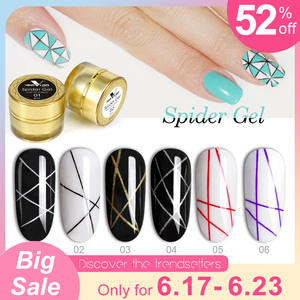 2019 Newest Draw Painting Gel Spider Gel Nail Art Design Pure Color Soak off UV LED 3D Emboss Jelly Glass Sliver Painting Gel