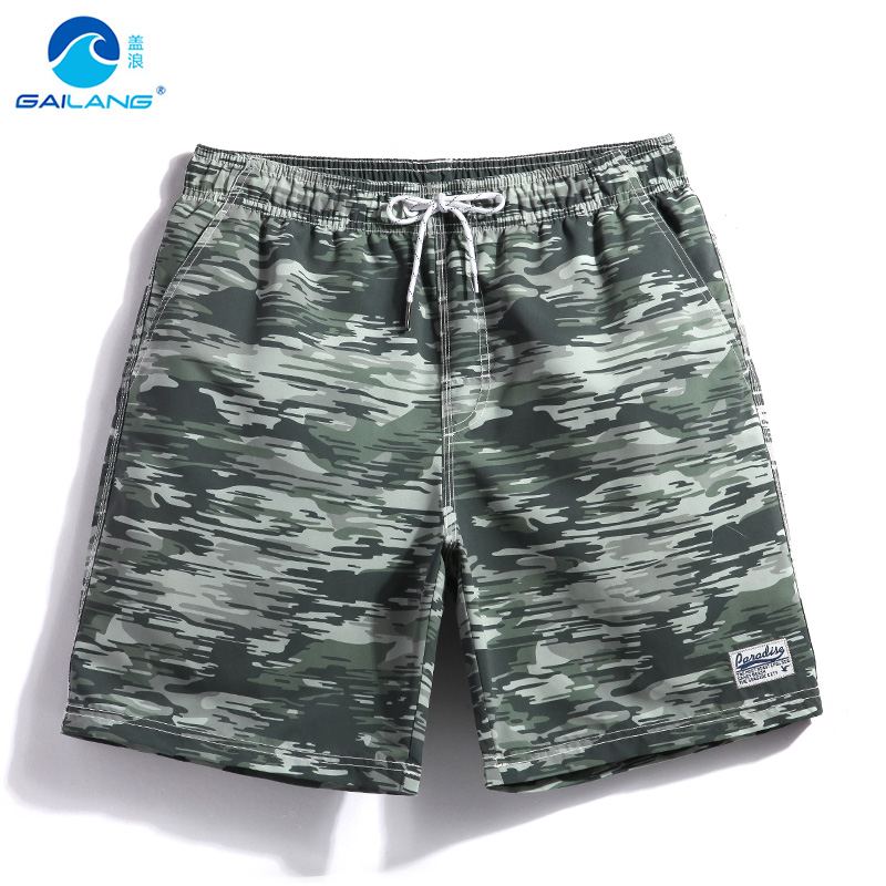 Brand Summer Sea Holiday Mens Camouflage Lined   Board   Swim   Short   Plus Size Man Quick Dry Water Sport Beach Surfing Camo   Shorts