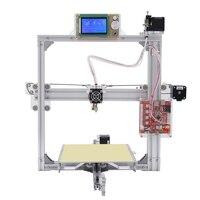 Новый Анет 3D принтер Анет A2 серебро 12864 ЖК дисплей металла алюминиевая рама с 8 ГБ MicroSD и пластмассы как подарок