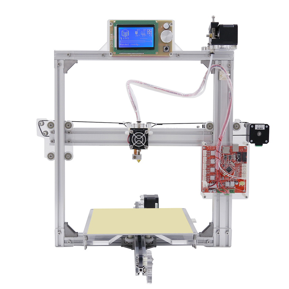 New Anet 3d printer Anet A2 Silver 12864 LCD Metal aluminium frame With 8GB microSD and plastics as gift vik max adult kids dark blue leather figure skate shoes with aluminium alloy frame and stainless steel ice blade