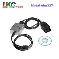10pcs Lot DHL Free Metal ELM 327 1 5V USB OBD2 CAN BUS Scanner ELM 327