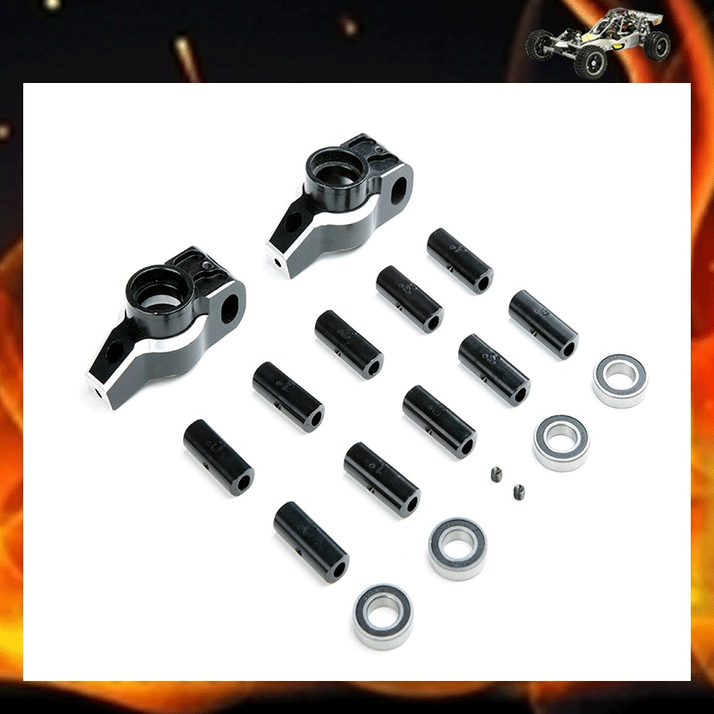 ФОТО LT CNC Metal adjustable angle rear wheel bearing housing Kit for 1/5 hpi Losi 5ive-T parts
