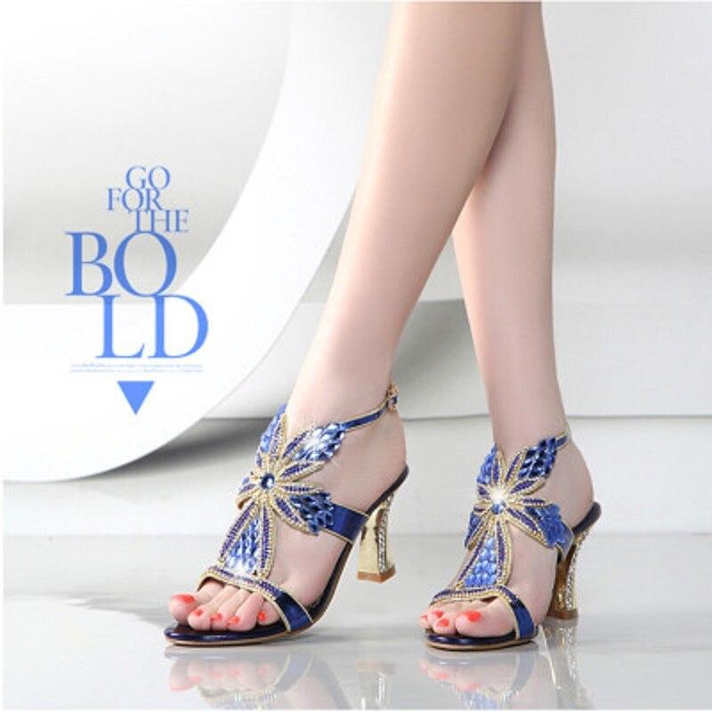 Zapatos Mujeres Púrpura Marea Sandalias Rhinestone Pescado Nuevos LzMpjSUVqG