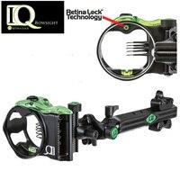 IQ Micro 5 PIN Bow sight Retina Lock .019 Right Handed Bow Sight Laser LED Light Illuminated By Optical Fiber Micro Optic