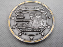 Cheap custom coins hot sales UNITED STATES ARMY VALUES CHALLENGE COIN high quality military challenge coin FH810303