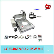 4 axis cnc router 6040 cnc 3D woodworking machine 2.2kw spindle with CE, ISO