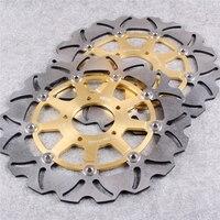 Золотой ротор дисковых передних тормозов для SUZUKI DL 650 V STROM 2004 2006/DL 1000 V STROM 2002 2010/SV 1000 2003 2007 и т. д. пара