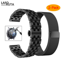 цена на 22mm Universal Milanese Loop band for Samsung Gear S3 Classic/S3 Frontier/galaxy watch 46mm Adjustable Stainless Steel Strap