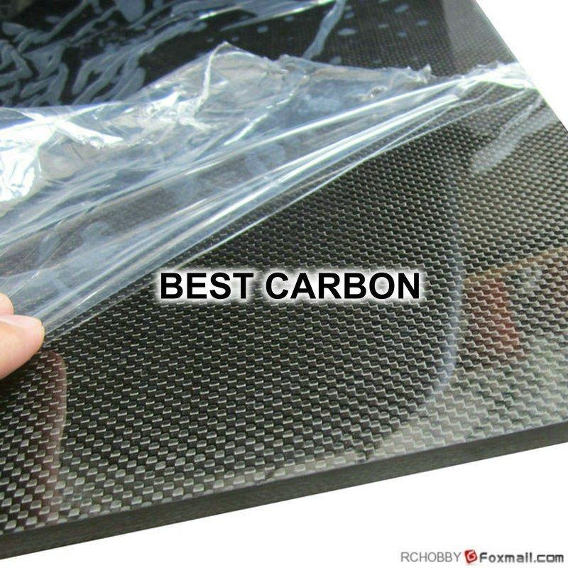 1.0mm x 500mm x 500mm 100% Piastra In Fibra di Carbonio, foglio di fibra di carbonio, pannello in fibra di carbonio, superficie Opaca