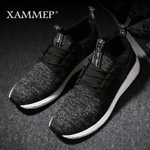 Image 2 - Кроссовки Xammep мужские сетчатые, повседневные брендовые сникерсы на плоской подошве, лоферы без застежки, дышащие, большие размеры, весна осень