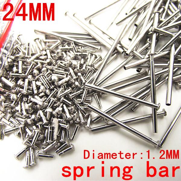 Prix pour 1000 pcs/lote montre outils de réparation et kits 24 MM printemps bar montre pièces de rechange en acier inoxydable diamètre 1.2 MM - SP012