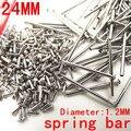 1000 unids/lote herramientas y kits de reparación 24 MM reloj barra de resorte de reparación de piezas de acero inoxidable de diámetro 1.2 MM - SP012