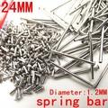 1000PCS / lot watch repair tools & kits 24MM spring bar watch repair parts Stainless steel diameter 1.2mm -SP012