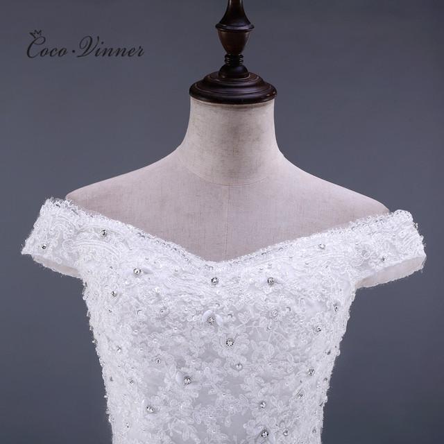Sleeveless Crystal Beading Lace Mermaid Wedding Dress