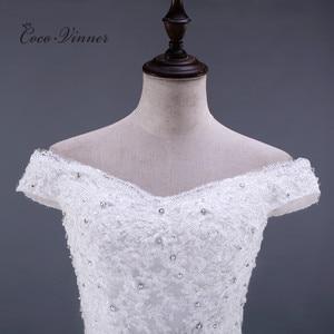 Image 4 - ואגלי תחרת בת ים שמלות כלה Vestido דה Noiva שרוולים קריסטל 2020 משפט רכבת בתוספת גודל לבן שמלות כלה WX0081