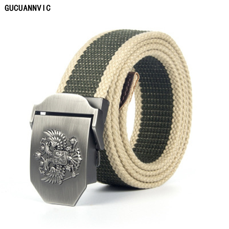 Best Sale Russian Thickening Outdoor  Belts Special Canvas Luxury Designer Belt  Men High Quality Strap Ceintures 120CM 6 Colors