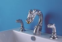 Free Shipping Chrome Clour Solid Brass Bathroom Sink Faucet ANIMAL FAUCET DRAGON FAUCET