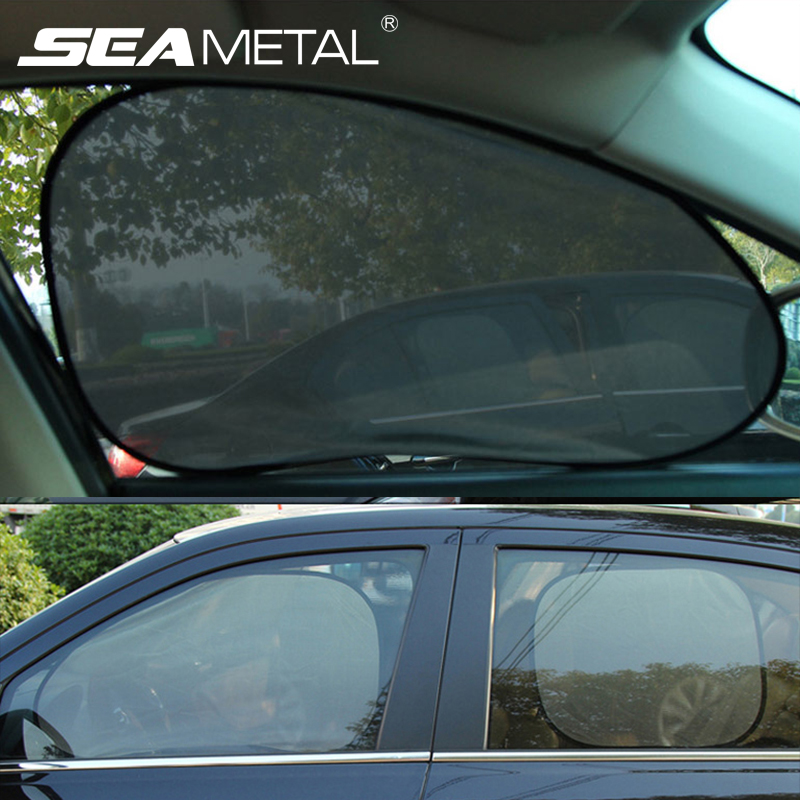 New Car Window Sunshade Curtain Uv Protection Mesh Car Sun Shade Curtain Automobiles Window Sun Visor Universal Auto Accessories