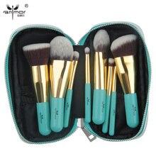 Anmor 9PCS Make Up Pinsel Professional Make up Pinsel Set Tragbare Tasche Foundation Lidschatten Kosmetische Werkzeuge pinceaux maquillage