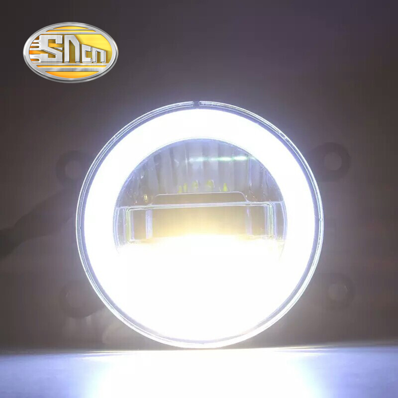 SNCN 3-IN-1 Functions Auto LED Angel Eyes Daytime Running Light Car Projector Fog Lamp For Suzuki Grand Vitara 2007 - 2012