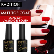 KADITION Matt Nail Art Esmalte Laca Gellak Fosco UV Gel Unha Polonês Verniz Gel Cartilha Top Coat Base de Gel Manicure verniz(China)