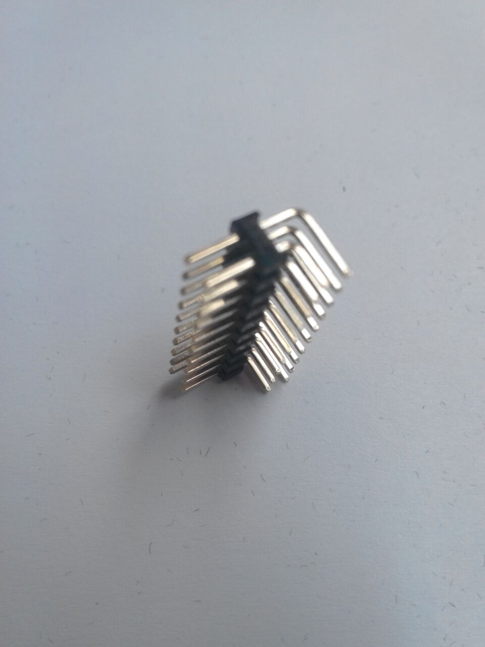 10pcs Gold plated 2.0mm Pitch 2x10 Pin 20 Pin male Double Row bend Pin Header Strip