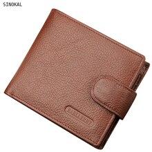 Wallet Men Leather Premium Cowhide Wallets for Man Short Wallet Portefeuille Homme Fashion Short Bifold Men Coin Purse