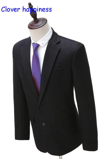 Verão Real dos homens Blazer Masculino Smoking Custom Made vestidos de Casamento Slim Fit Ternos 2 Peças (paletó + calça)