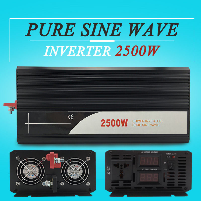 dc ac frequency inverter 2500W pure sine wave power inverter home useDC 12V 24V 48V to AC 110V 120V 220V 230V 240V
