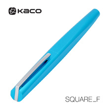 KACO SQUARE Luxury Aluminum Four Sides Fountain Pen with Iron Box, Schmidt Converter & Fine Nib 0.5mm Gift Set for Business