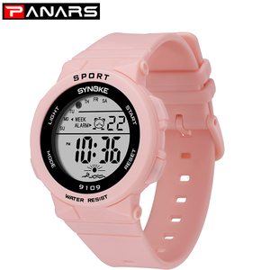 Image 1 - PANARS mode dames montres garçons filles étudiants numérique sport femmes montre 50m étanche montre bracelet alarme Relogio Feminino
