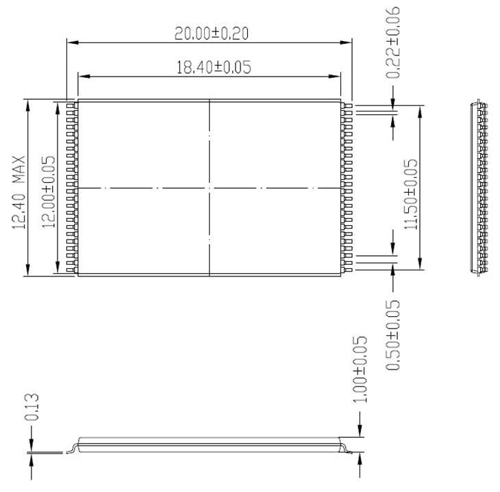 Купить с кэшбэком Long TSOP48-0.5 Open Top Structure programming Burn in Socket IC Test Socket Flash Test Socket Adapter for all TSOP48 package
