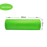 Color Green Massage Relaxation New Yoga Pilates Exercise EVA Foam Roller Fitness Home Gym Massage 410005