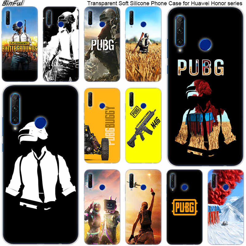 Hot Keep Calm Pubg game Soft Silicone Phone Case for Huawei Honor 20 20i 10 9 8 Lite 8X 8C 8A 8S 7S 7A Pro View 20 Fashion Cover