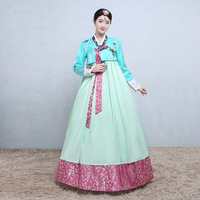 New South Korean Traditional Costume Embroidered Lady Palace Hanbok Dress for Stage Asian Ancient Hanbok Korean Dress 89