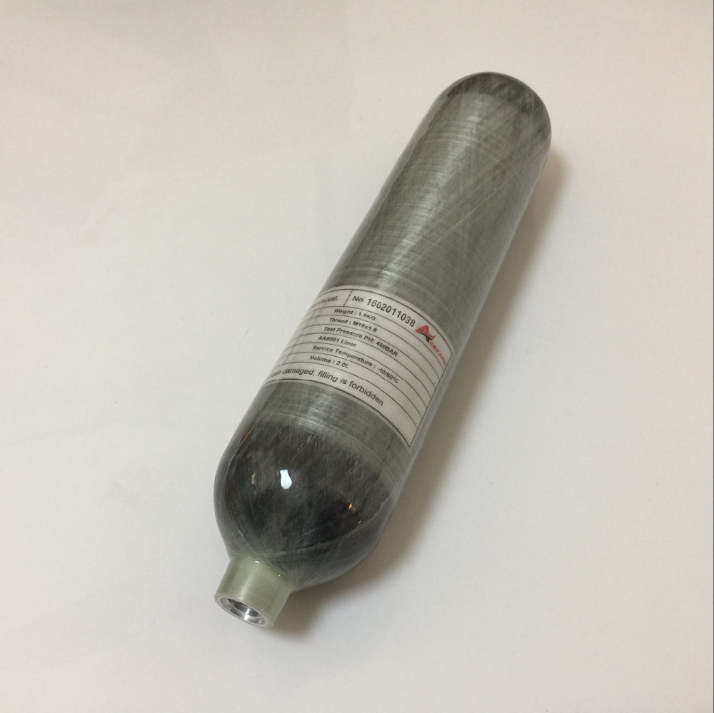 2017China Manufacturer Diving use 2L CE certified 300bar 4500psi Gas Cylinder Bottle for PCP Air Gun