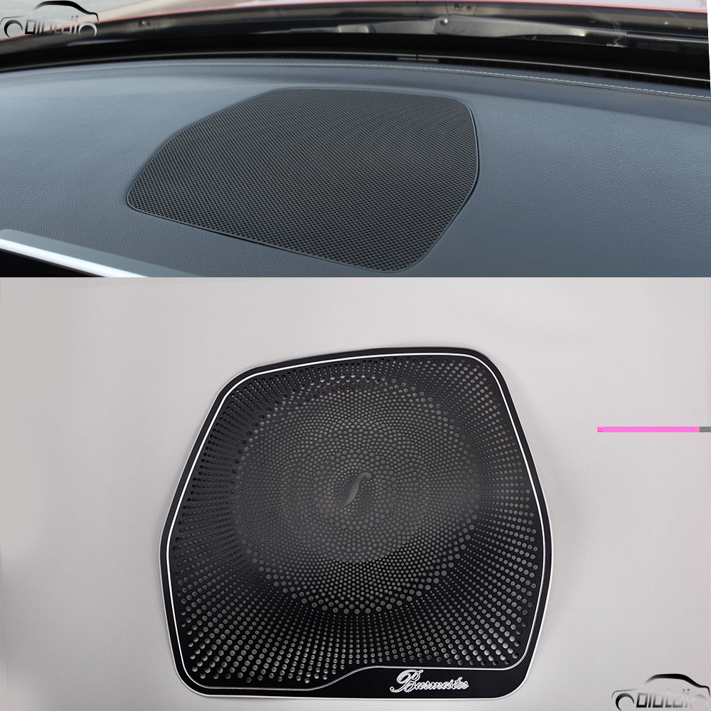 Car Styling Left Drive Dashboard Speaker Cover Trim Sticker For Mercedes Benz C Class W205 C180 C200 C260 2015 2016 GLC Class bjmycyy stainless steel exhause air filter 2 to 4 cover car accessories for mercedes benz c class sedan w205 c200 c180 2015 2016