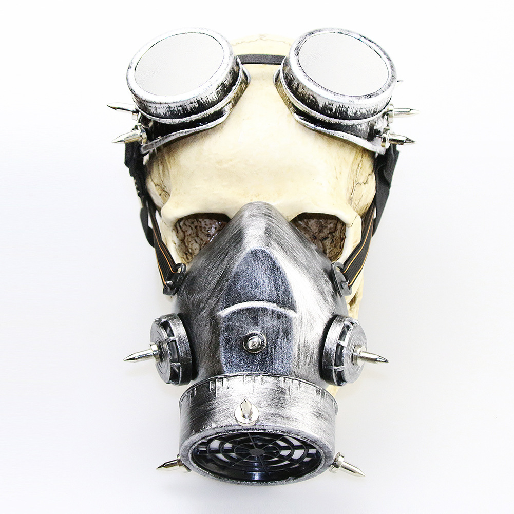 Steampunk Goggles Vintage Gothic Halloween Cosplay Accessories Unisex Cosplay Gas Mask Party Masks