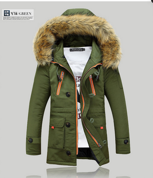 Men coats thick degree mens fur hooded jacket original parka coats ...