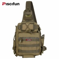Piscifun Nylon Multifunctional Waterproof Dural Single Shoulder Fishing Camping Hiking Gear Tackle Bags