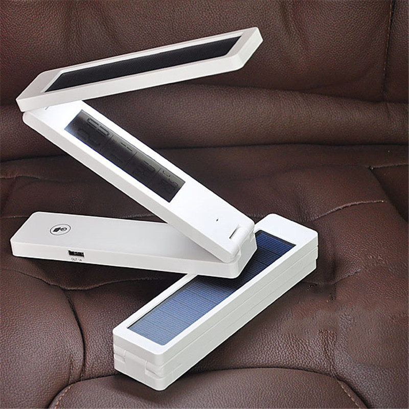 LED Solar Panel Table Light Mobile Power Chargeable Calendar Touchable Garland Eyesight Protect Read Lamp Energy Saving Lighting