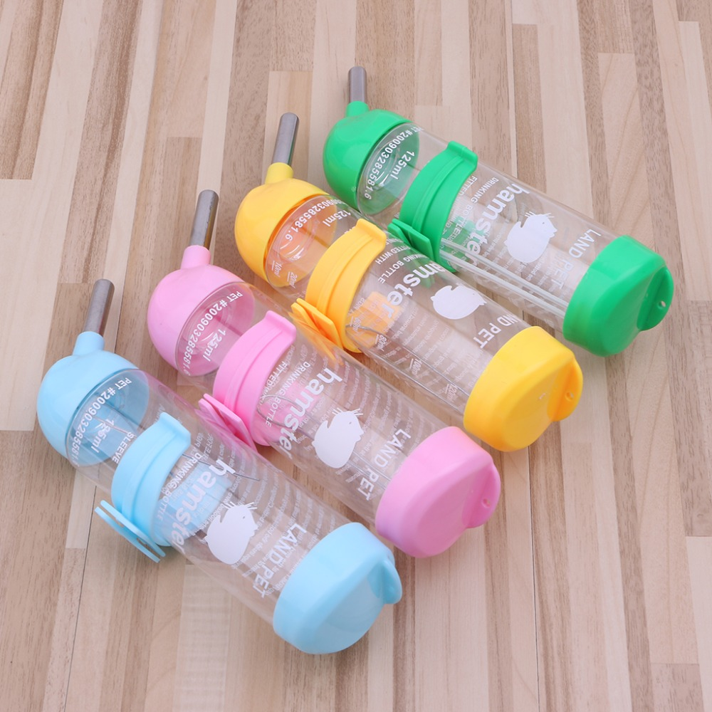125ml Pet Dog Bird Hamster Hanging Bottle Auto Feeder Rabbit Water Dispenser Hot