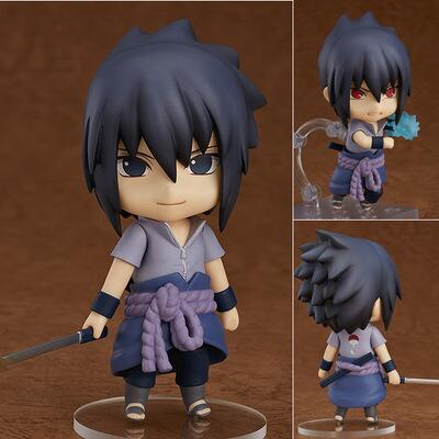 10cm Naruto Uchiha Sasuke Anime Nendoroid Mini Action Figure Collection figures toys
