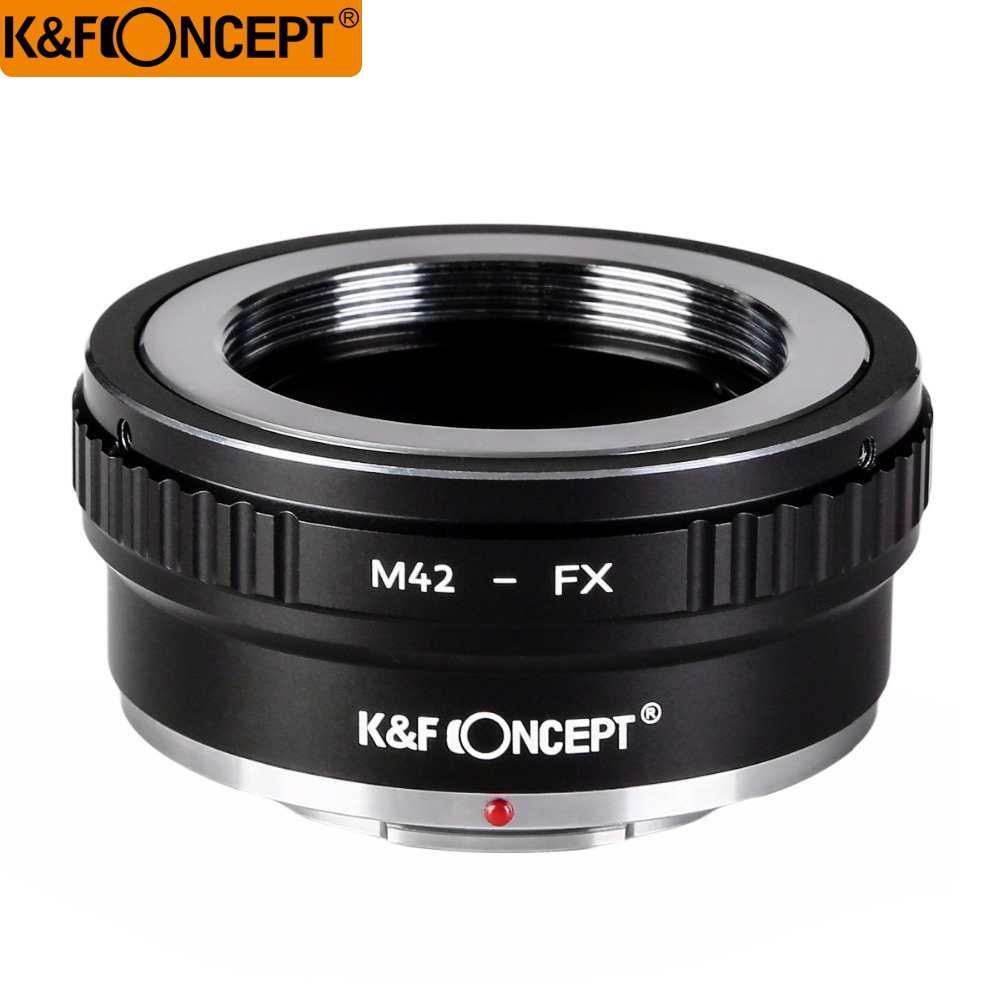 K & F CONCEPT M42-FX II DSLR Camera Lens Mount Adapter untuk M42 Screw Mount Lens untuk Fujifilm FX Lens X-series Microless camera