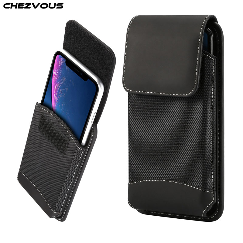 CHEZVOUS Универсальный с зажимом-ремешком чехол 4,7-6,5 дюймов поясная сумка для мобильного телефона для iPhone X 7 8 6 plus xr xs max чехол для samsung s9 S8 чехол