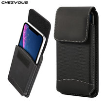 CHEZVOUS Universal Belt Clip Case 4.7 6.5 inch Waist Bag for iPhone X 7 8 6 plus xr xs max Pouch Holster for Samsung s9 S8 case