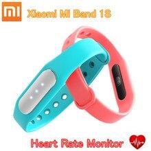 Pulsera inteligente xiaomi mi banda 1 s original en el corazón Monitor de ritmo MiBand 1 S Pulsera de Fitness Usable Pista para IOS Android