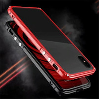 Original Bobyt Luxury Case For Apple IPhone 8 Luxury Metal Bumper Clear Acrylic 360 Full Protection