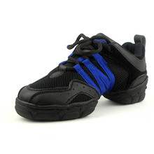 Breathable Mesh Black Blue Jazz Dance Shoes Dance Sneakers Woman Fittness Outdoor Zapatilla De Deporte Free