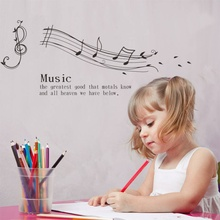 Creative Note Music Spectrum home decal wall sticker /removable student lover room decoration music classroom party decor art